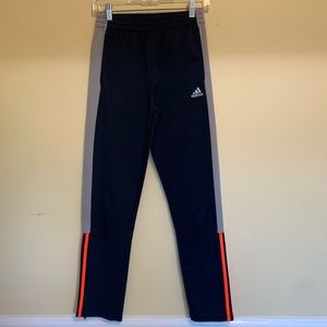 Adidas track pants with zipper on ankle